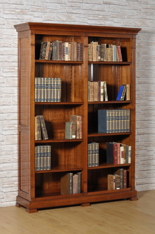 Libreria in stile Direttorio con due vani a giorno | Mobili Vangelista
