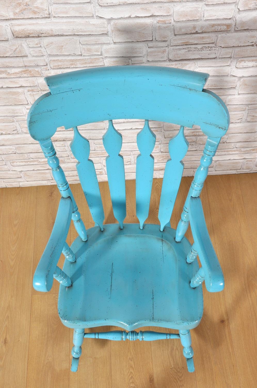 Sedia a dondolo con braccioli in stile country inglese - Stile vittoriano mobili ...