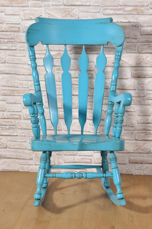 Sedia a dondolo con braccioli in stile country inglese - Dondolo con seduta ...