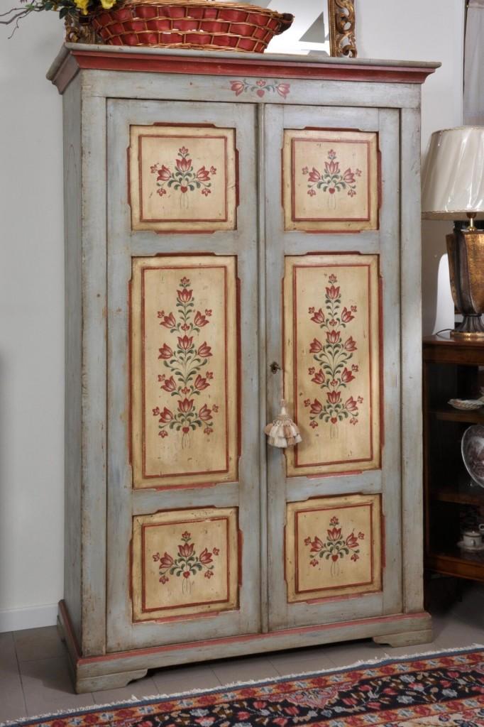 Armadi decorati tirolesi e veneziani archivi mobili - Mobili a due ante ...