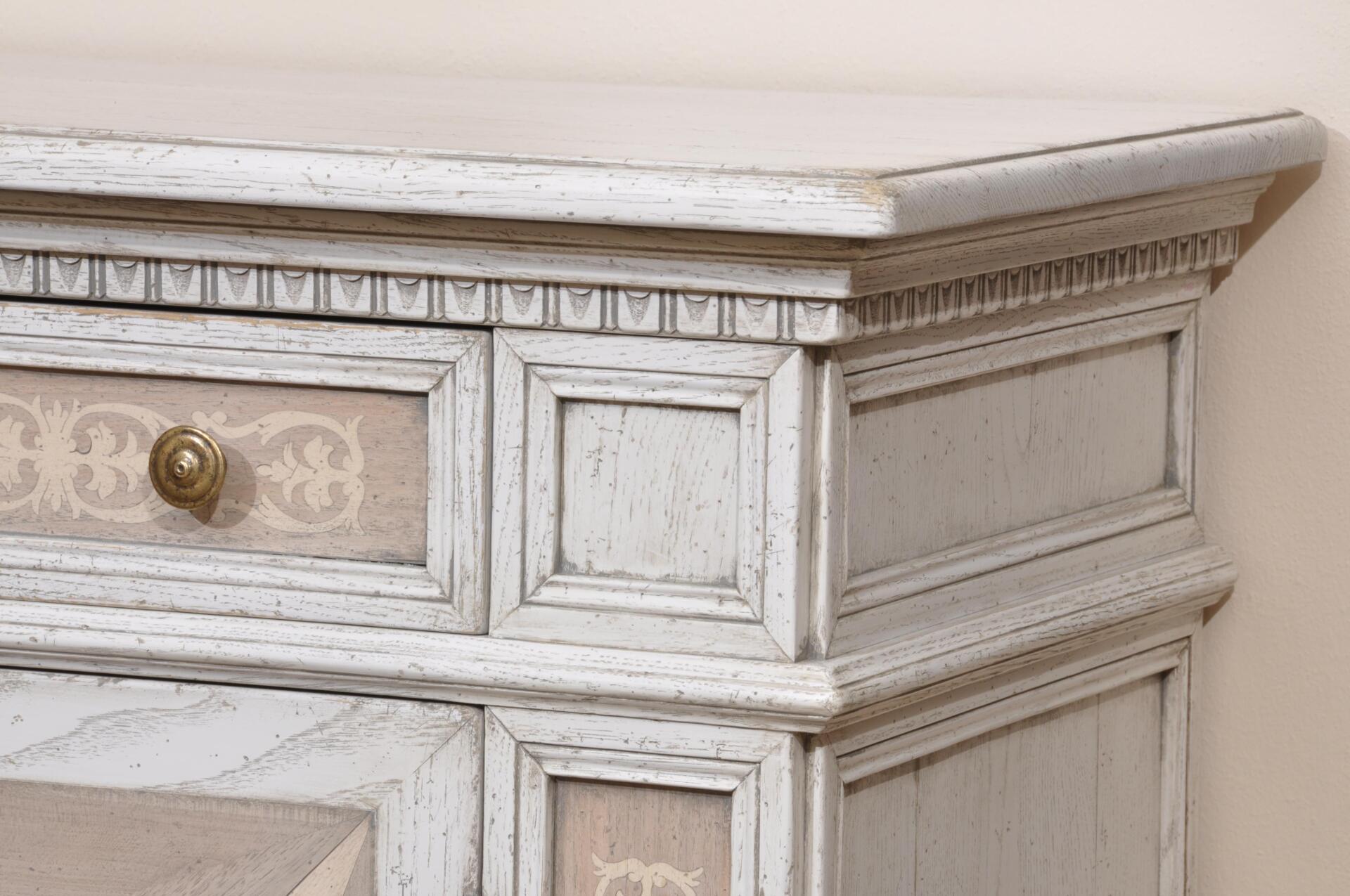 Ricercata credenza in rovere con intarsi riprodotti a mano in stile 600 toscano mobili vangelista - Mobili stile toscano ...