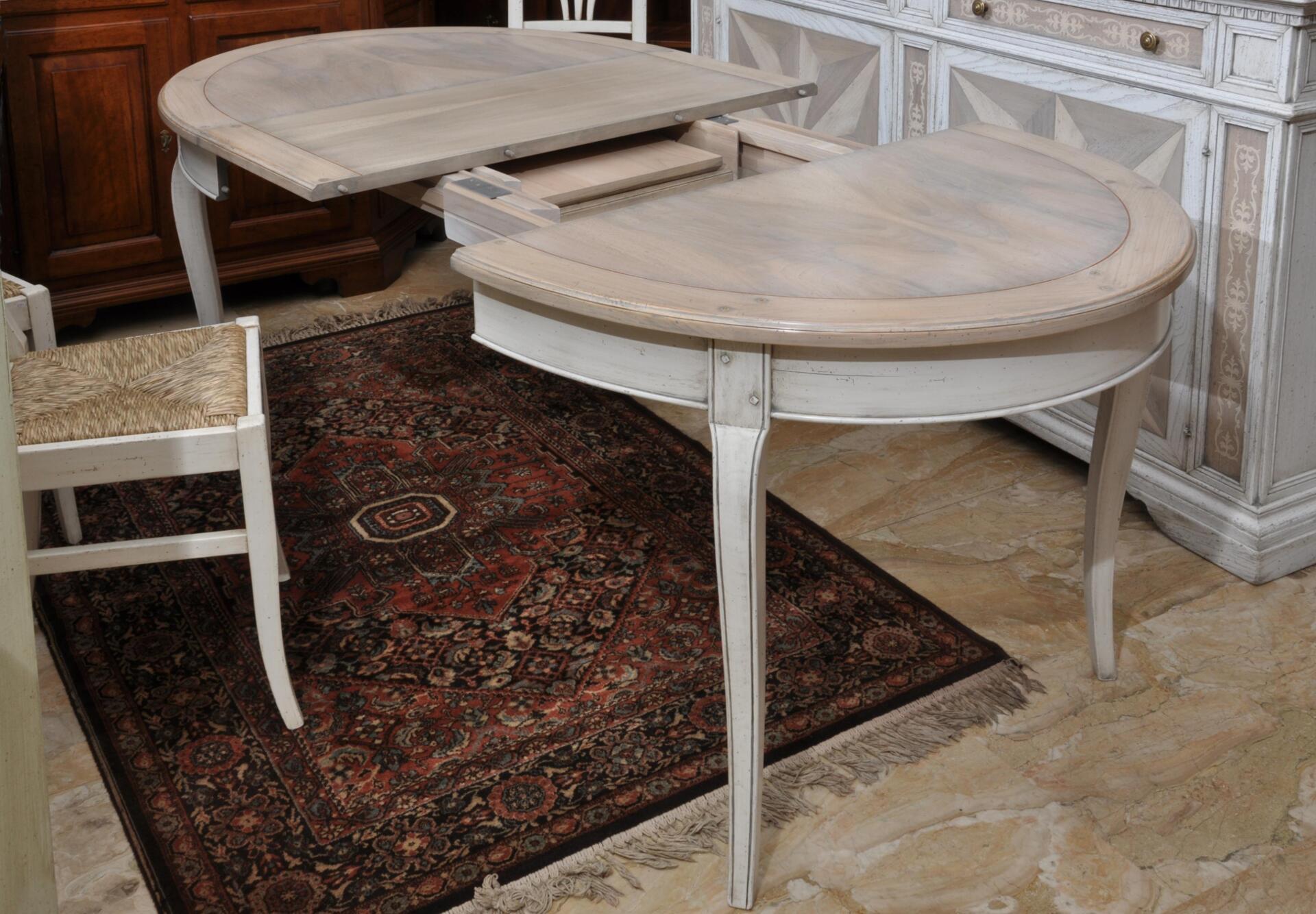 it:]Tavolo ovale estensibile bicolore provenzale in ciliegio e piuma ...