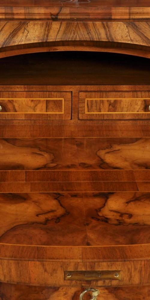 realizzazione secretaire e trumeau di lusso made in italy con interni della ribalta piccoli cassetti e vani segreti