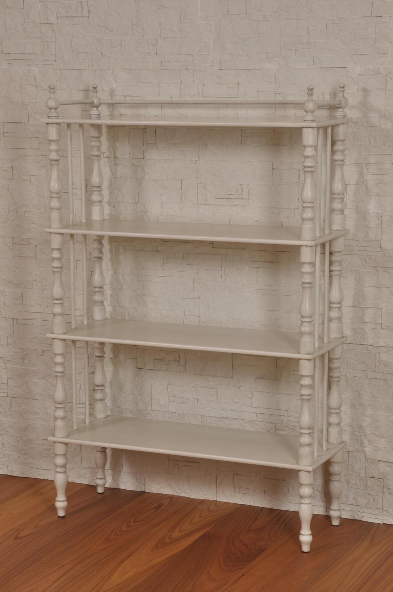 Libreria tag re tornita con 4 piani a giorno in stile for Piani di libreria stile artigiano