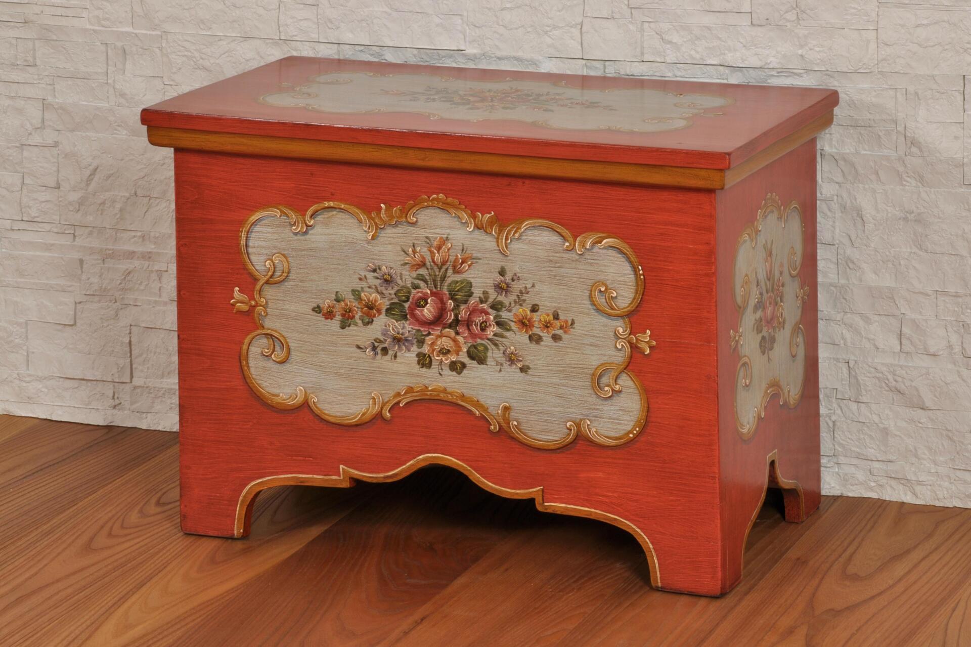 Cassapanca di lusso decorata a mano in stile 39 700 barocco - Cassapanca decorata ...