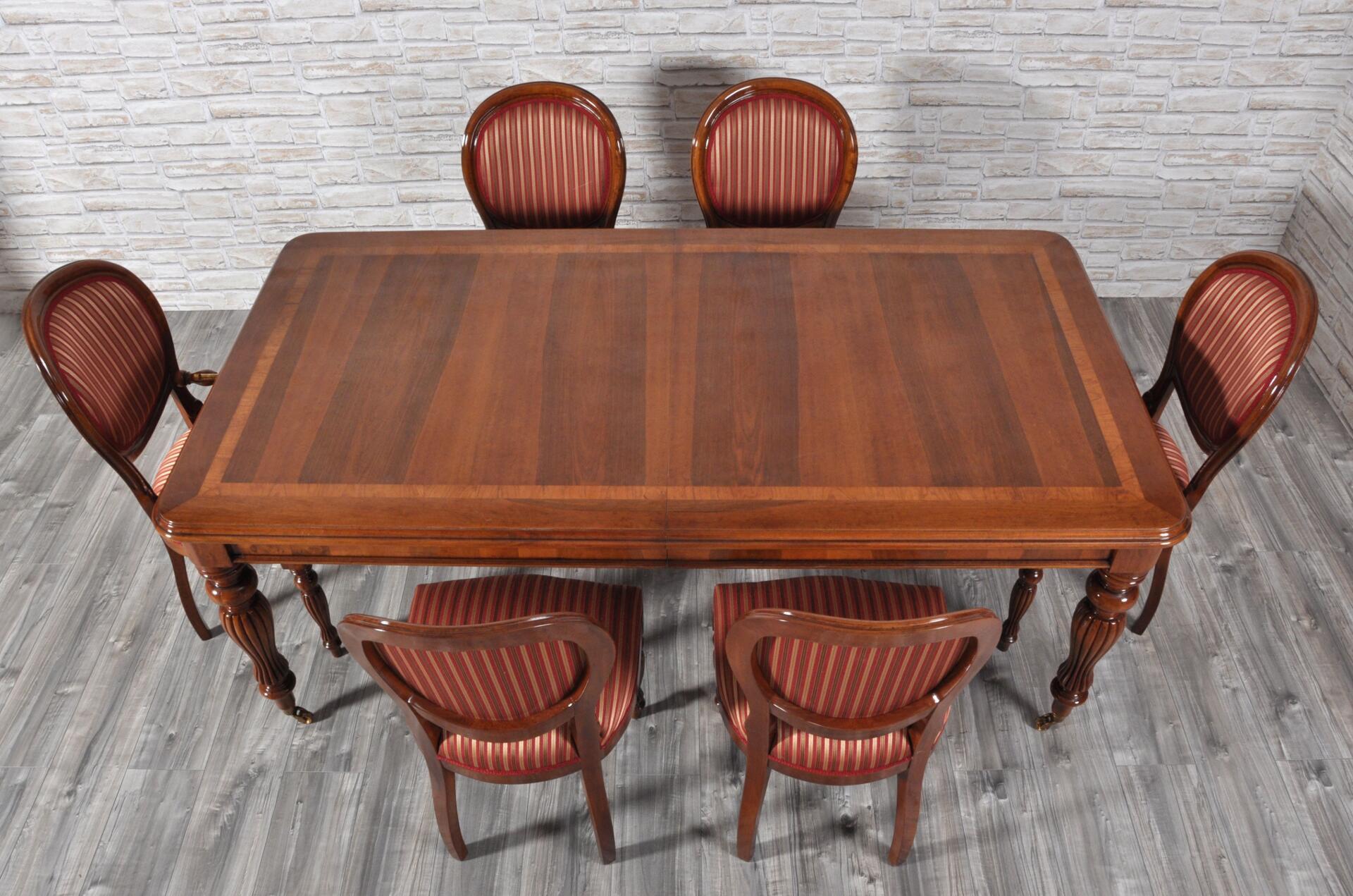 Tavolo inglese vittoriano rettangolare allungabile - Tavolo rettangolare ...
