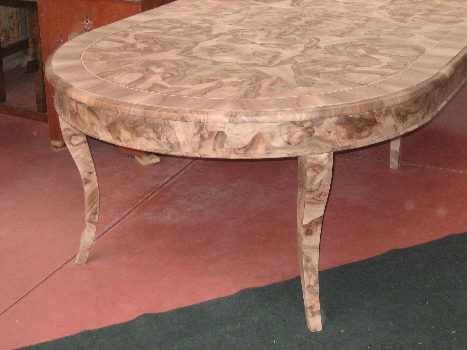 Tavolo Rotondo Allungabile In Noce.Luxury Round Baroque Venetian Table In Walnut Root