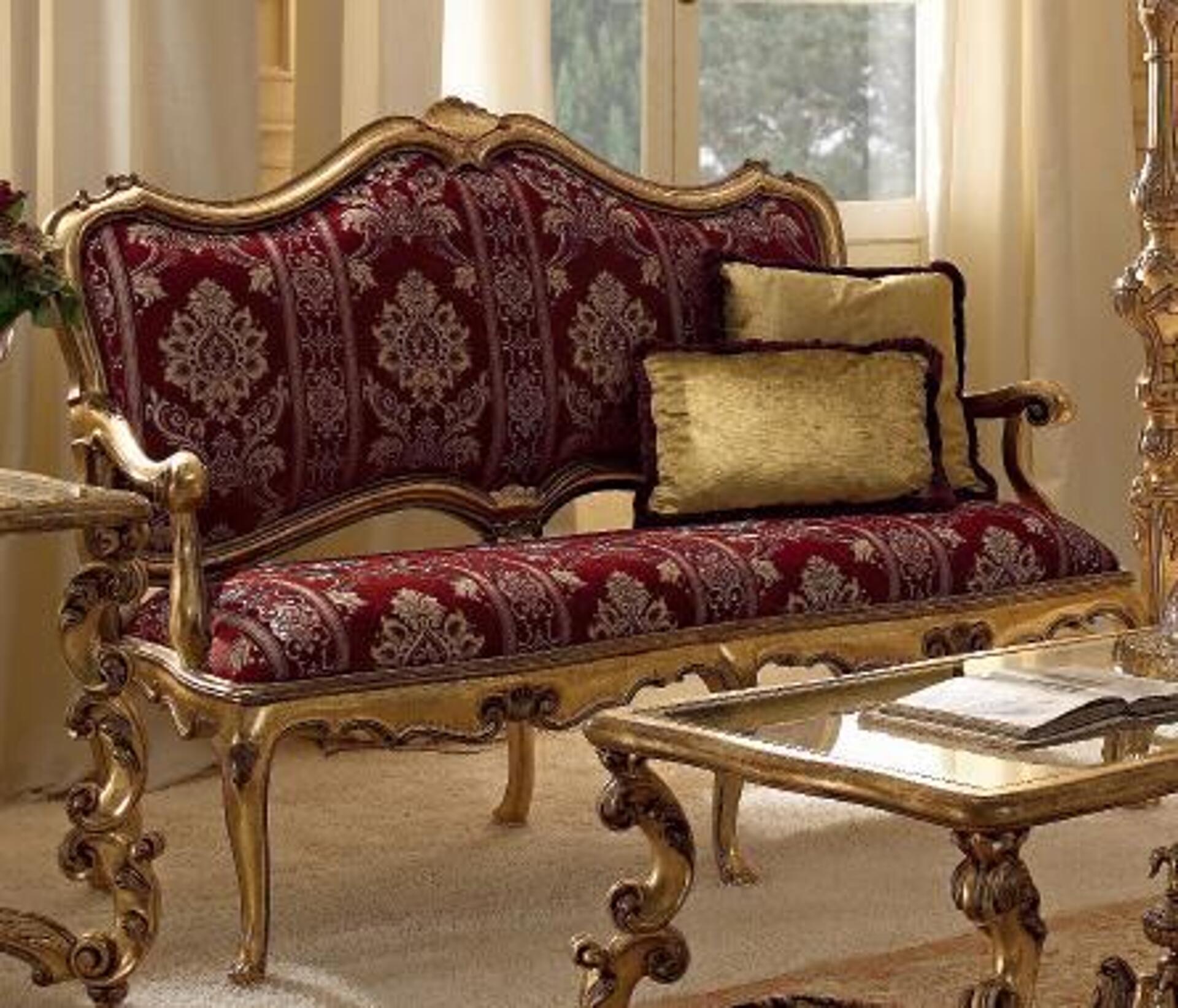 Importante divano con braccioli a 2 posti in stile Luigi XIV ...