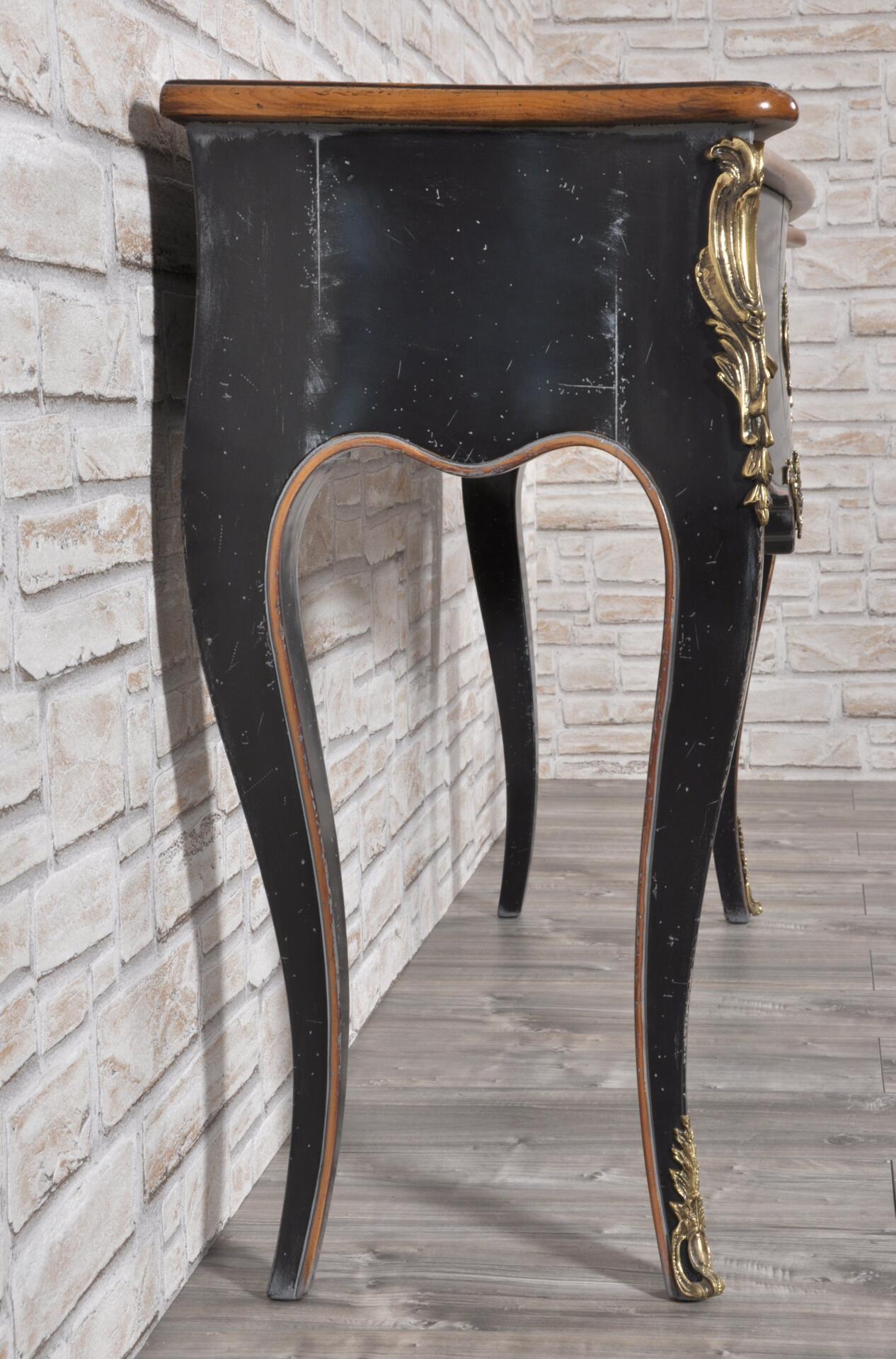 Consolle di lusso bombata e mossa costruita in legno di for Consolle nera laccata
