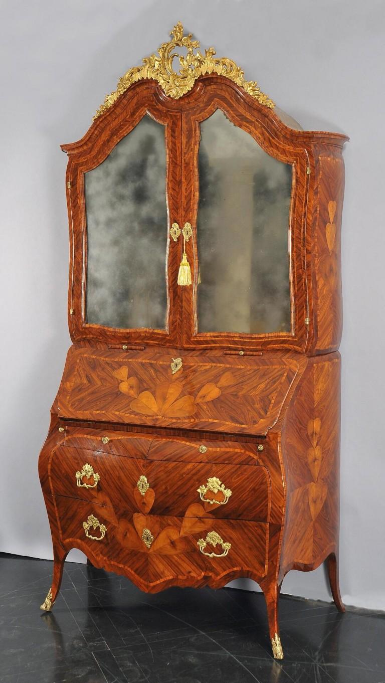 Secretaire-trumeau di lusso bombato in stile \'700 barocco genovese ...