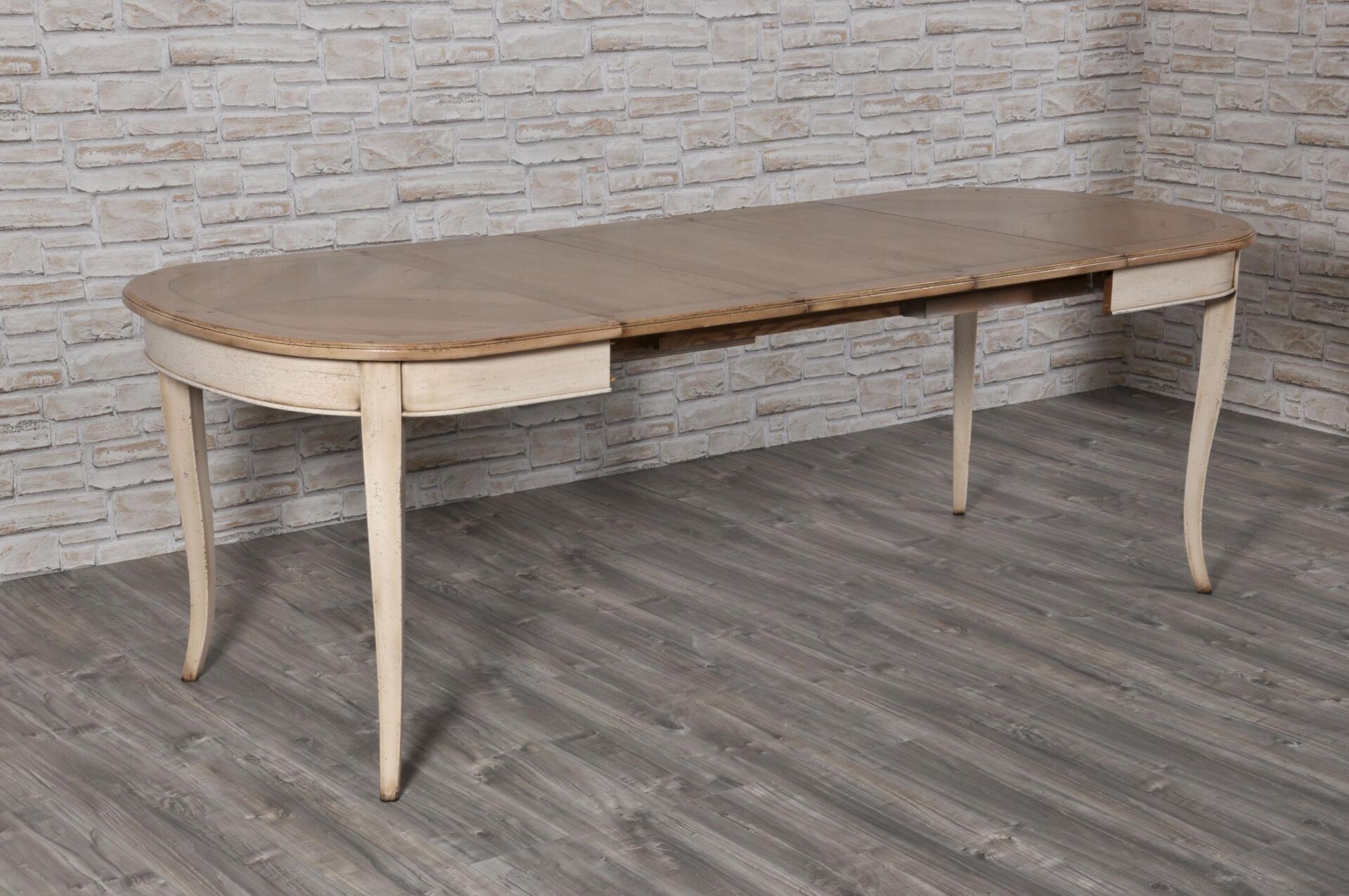 Piccolo tavolo ovalino a forma di botte stile 39 700 - Tavolo piccolo allungabile ...