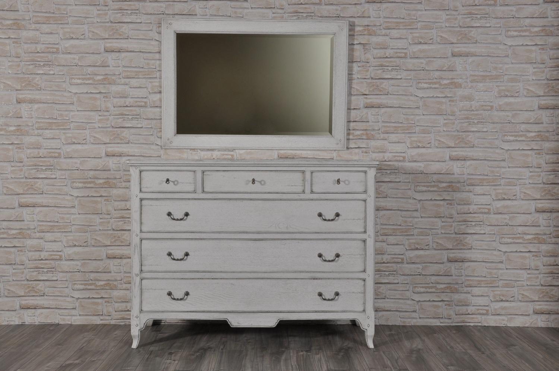 Com di lusso a 6 cassetti riprodotto stile classico provenzale laccato bianco anticato in legno - Mobili legno bianco anticato ...