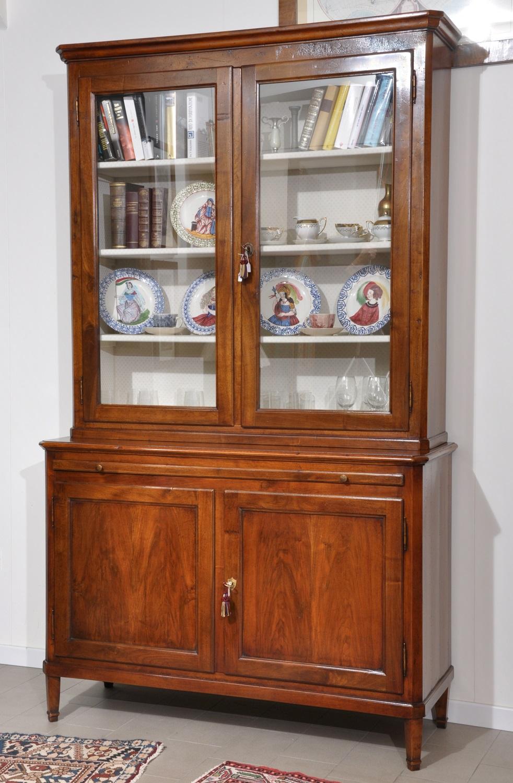 Credenza con alzata vetrina a 4 ante prodotta nello stile Luigi XVI ...