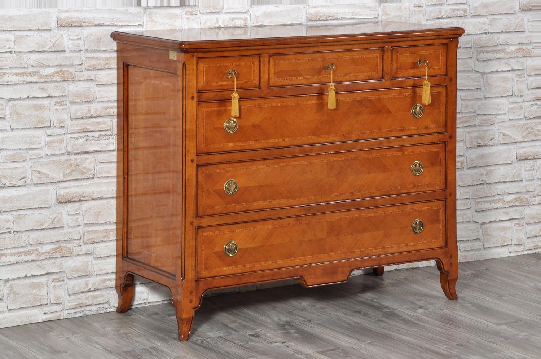 Com in stile provenzale essenza pregiata di ciliegio con intarsi in legni esotici mobili - Mobili ciliegio ...