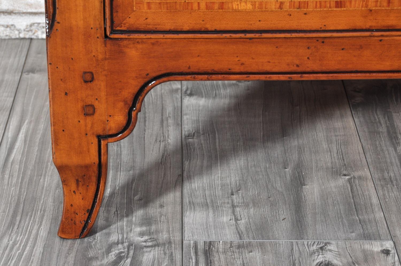 gamba realizzabile su misura in legno di ciliegio massello sagomata e intagliata in stile provenzale lavorazione di lusso artigianale