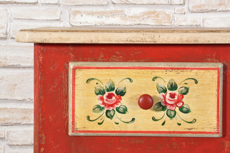 Credenza Barocca Moderna : Credenza dispensa decorata a mano con motivi floreali e barocchi