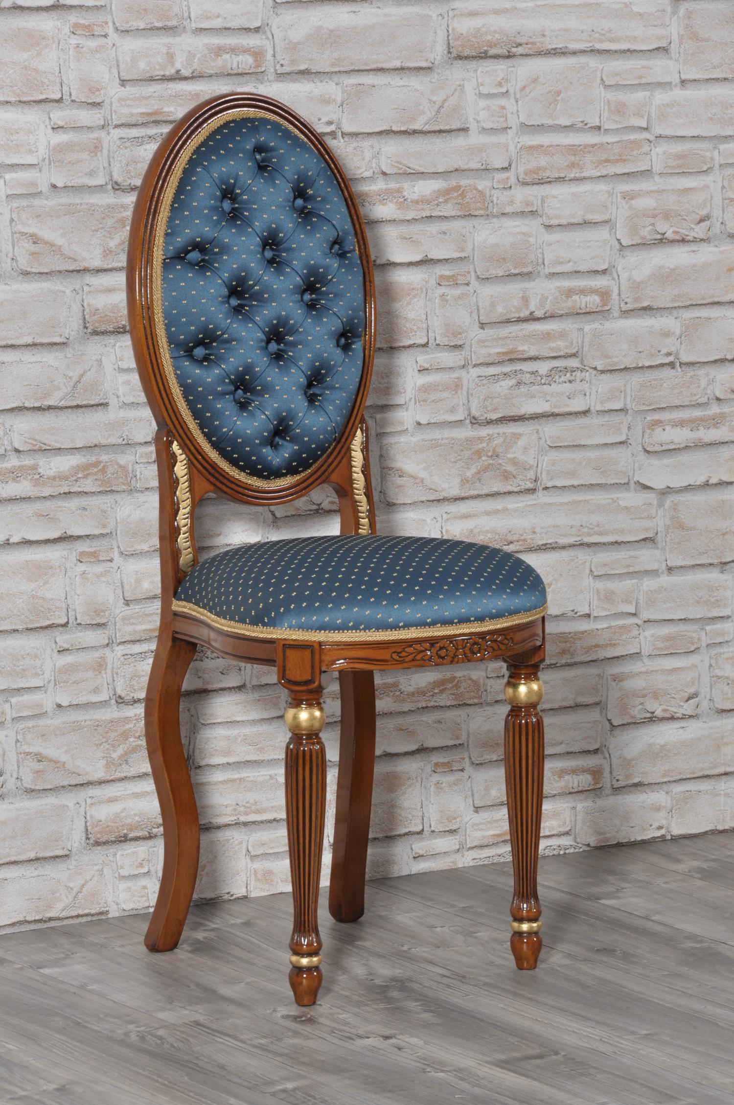 Importante sedia riprodotta in stile luigi xvi con finitura in foglia oro mobili vangelista - Mobili luigi xvi prezzi ...