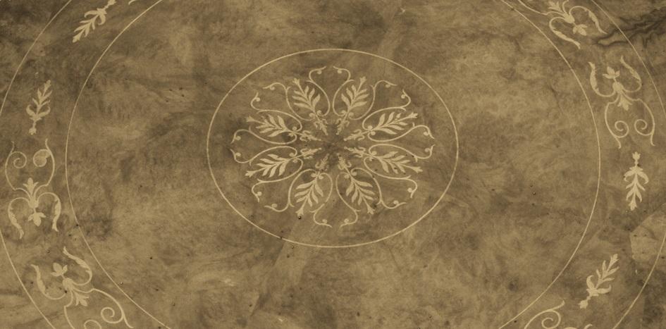 intarsio floreale fatto a mano costruito su misura nel laboratorio artigianale Vangelista mobili in essenza pregiata di acero elegante e raffinato arredo si lusso di produzione made in Italy