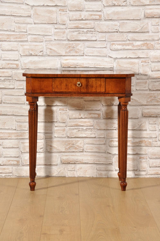 Tavolino da salotto intarsiato in radica di noce e legni - Mobili in radica di noce ...