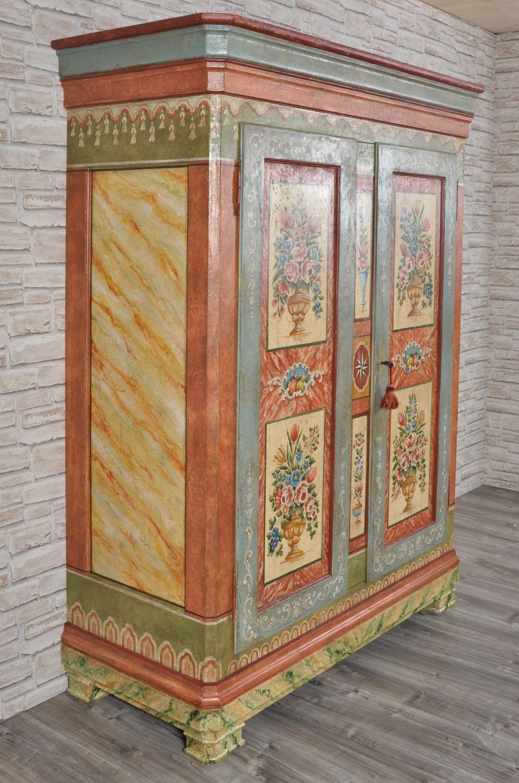 Armadio dispensa a una anta in stile 39 700 barocco tirolese costruito e decorato a mano - Mobili di montagna ...