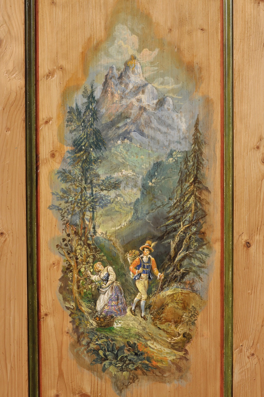 Armadio a 2 ante realizzato in legno di abete antico ...