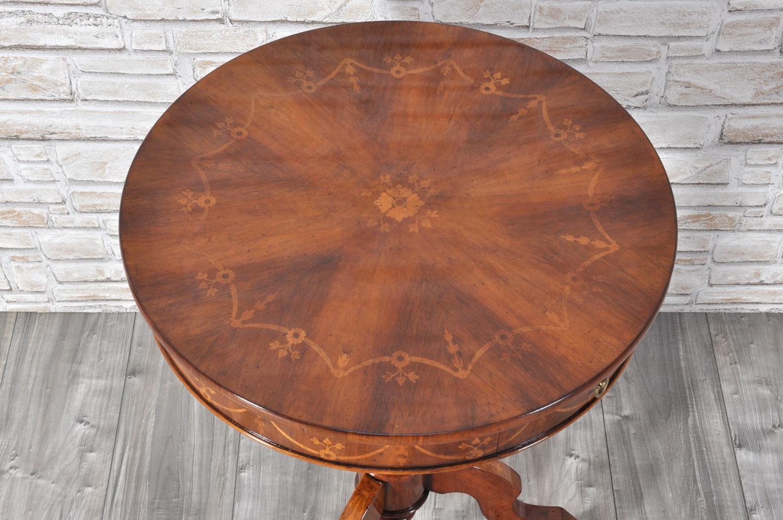 Tavolino rotondo in stile luigi filippo sorrentino con for Seconda mano mobili