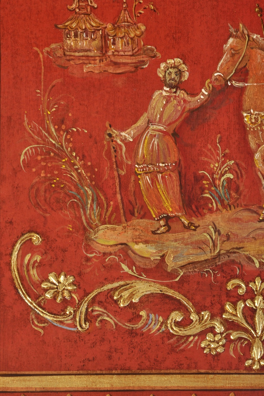 laccatura trumeau a cineserie riprodotta a mano dall'originale del 1700