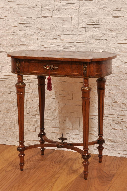 Pregiato tavolino da salotto intarsiato in radica con 1 - Tavolini da divano ...