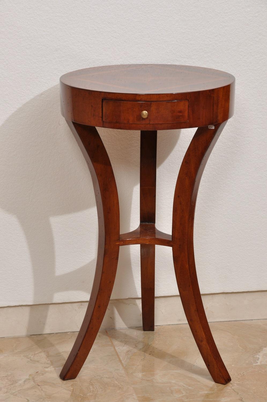 Tavolino Rotondo Legno Essenza Bim : Tavolino rotondo da salotto finemente intarsiato e