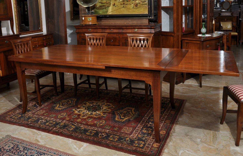 Tavoli Da Pranzo Importanti.Rectangular Expandable Dining Table In Walnut Wood With Sabre