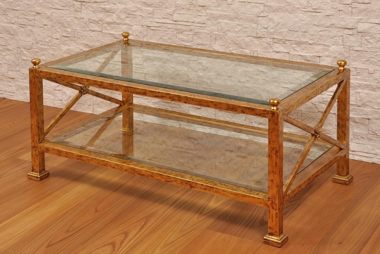 Tavolo da salotto laccato in foglia oro consumato con for Piani del giroletto in stile missione