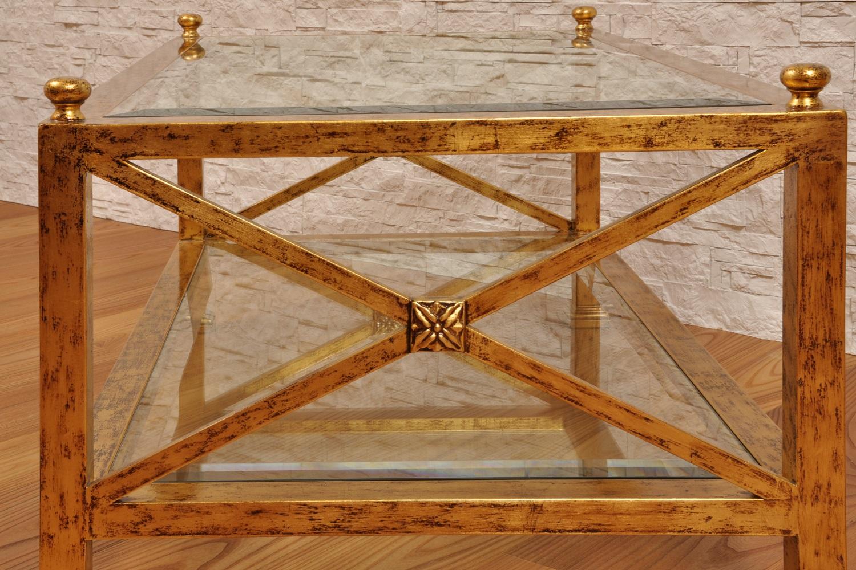 Tavolo da salotto laccato in foglia oro consumato con for Piani di lusso a pianta aperta