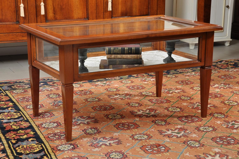 Ripiani In Legno Per Tavoli : Tavolo da tè salotto a bacheca costruito in ciliegio con il