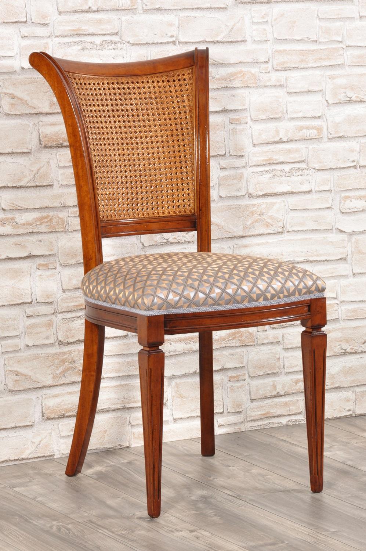 Sedia in stile classico luigi xvi in legno di pregiato di for Rivestimento sedie