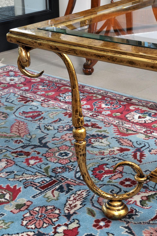 Tavolini Da Salotto Classici Foglia Oro.Pregiato Tavolo Da Salotto In Stile Luigi Xiv Costruito In Ferro