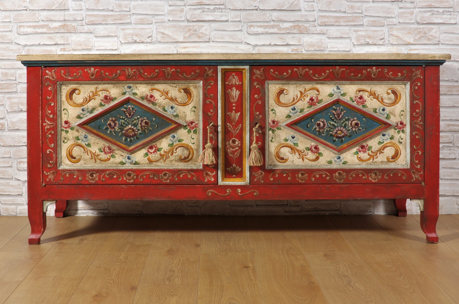 Chalk Paint Per Porte finely hand-painted double leaf door chest tv stand in 17th