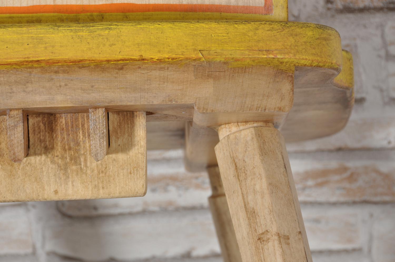 Sedia rustica a cuore in abete dipinta a mano nello stile - Mobili per case di montagna ...