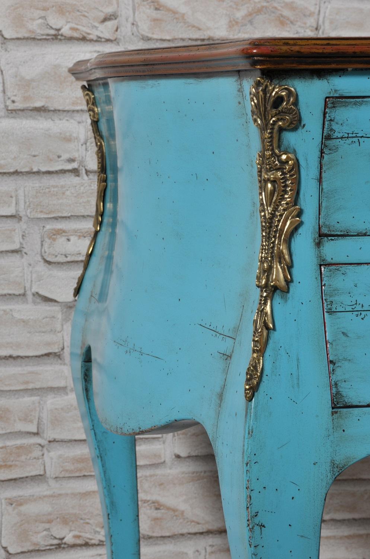 scrivania made in Italy 700 veneziana con bronzi fatti a mano nello stile classico luigi XV cesellati e lucidati artigianalmente con le stesse lavorazioni del settecento mobile di lusso da centro stanza