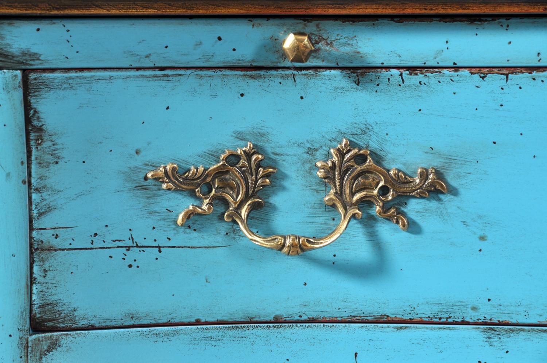 maniglia in stile luigi XV in bronzo fuso su stampo di terra della scrivania in stile classico luigi XV realizzata a mano accessorio di lusso made in Italy