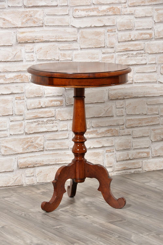 Piccolo tavolino rotondo da salotto realizzato in noce - Tavolino salotto rotondo ...