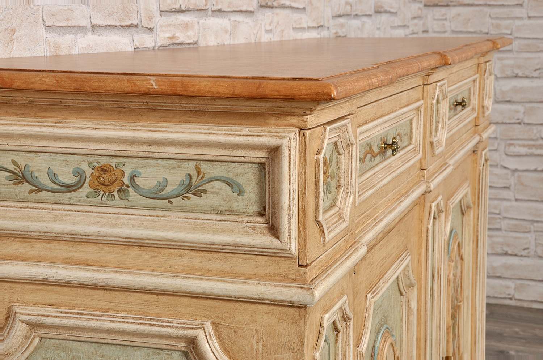 Popolare Credenza veneziana con cassetti segreti decorata a mano con fiori  CD31