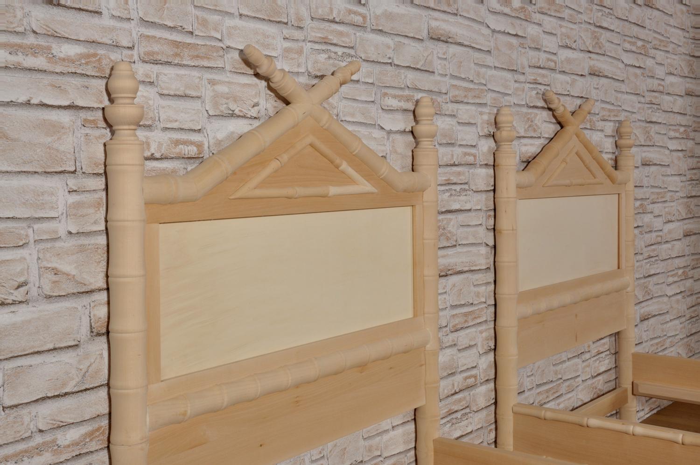 Letto Singolo In Inglese.Importante Letto Bamboo Singolo Prodotto In Stile Coloniale