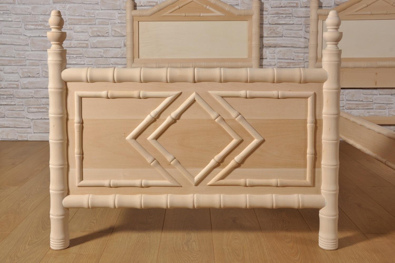 Importante letto bamboo singolo prodotto in stile - Letto stile impero ...