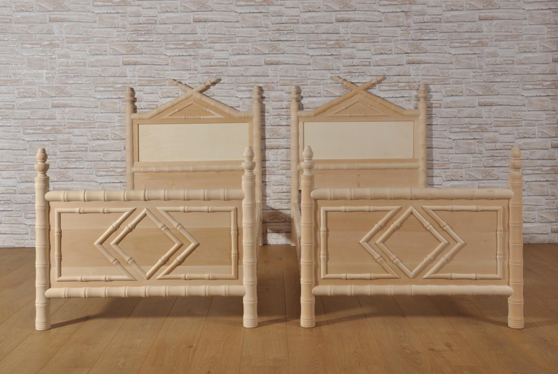 Importante letto bamboo singolo prodotto in stile - Stile vittoriano mobili ...