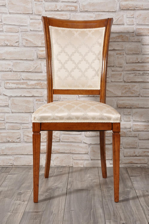 Elegante sedia in stile luigi xvi in noce con le gambe a - Sale da pranzo stile classico ...