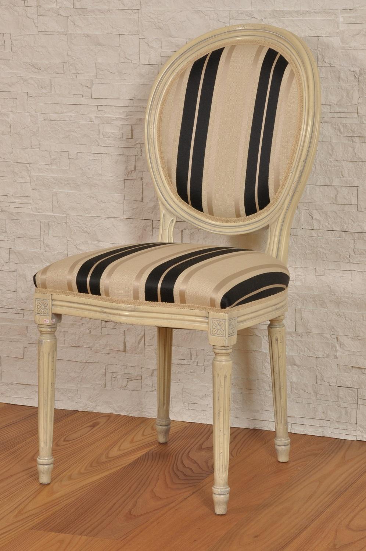 Sedia luigi xvi riproduzione di lusso laccata color avorio for Riproduzione mobili di design