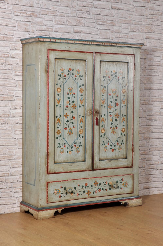 armadio con 2 ante un cassetti dipinti con disegni ...