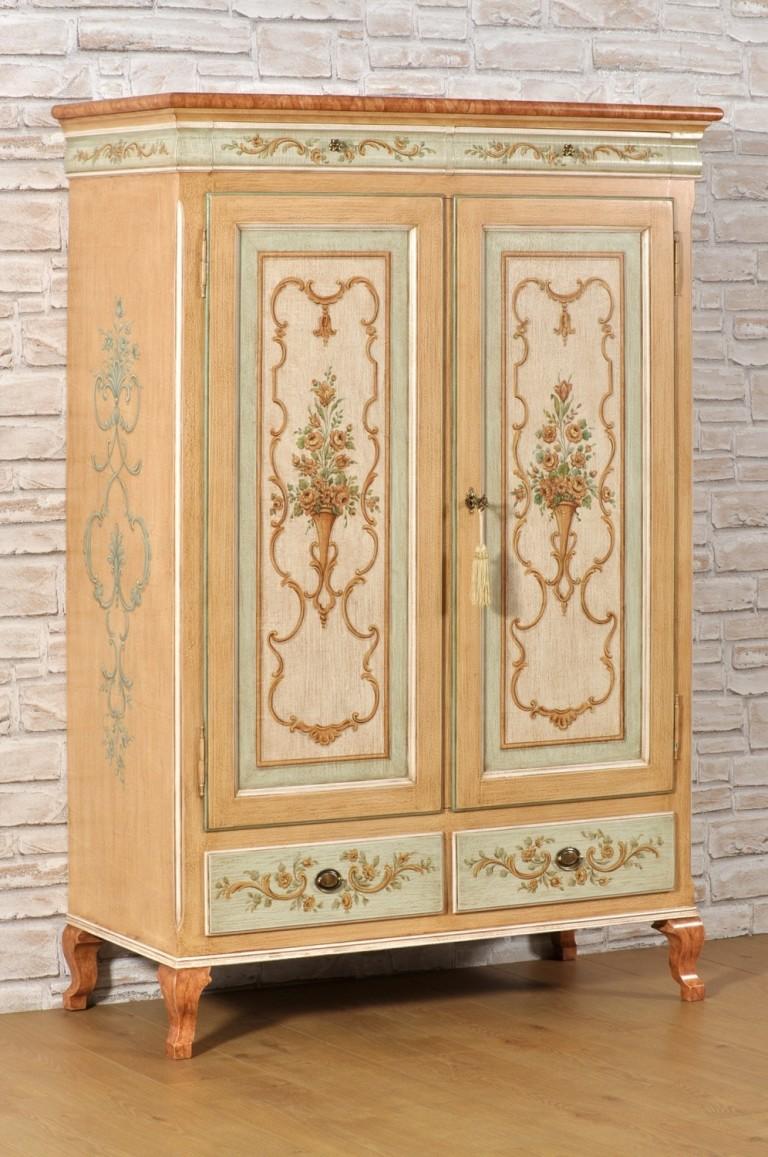 armadio dispensa 2 ante 2 cassetti dipinto in stile ...