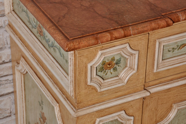 Credenza Con Piano In Marmo : Credenza veneziana gigante in stile luigi xiv barocco decorata